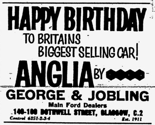 Ford Anglia - Birthday