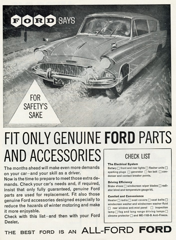 Ford Anglia - Genuine Ford Parts