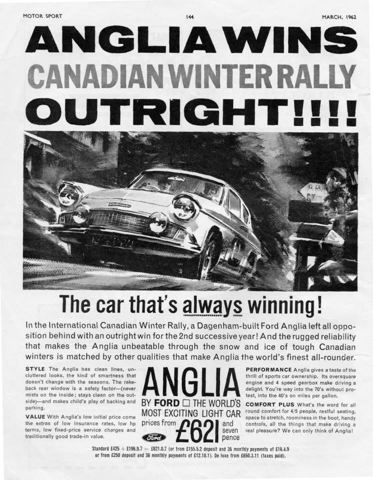 Ford Anglia - Canadian Winner