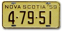 1959 Plate