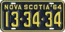 1964 Plate
