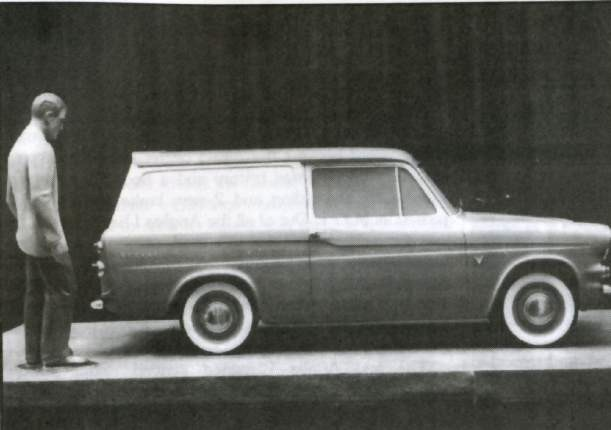 Ford Anglia Van Prototype - Side View
