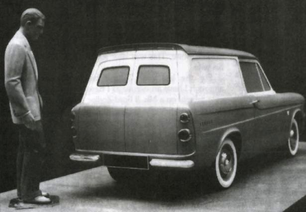 Ford Anglia Van Prototype - Rear View