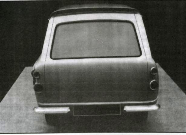 Ford Anglia Van Prototype - End View