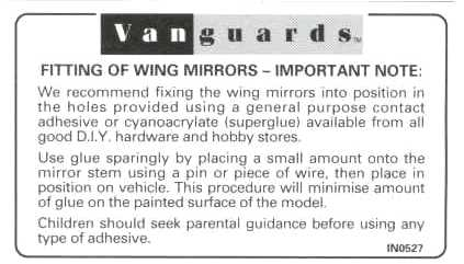 Wing Mirror Instructions