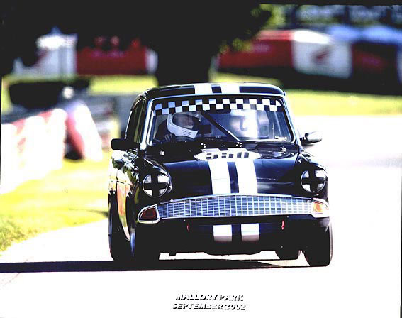 Steve Read - Ford Anglia - Mallory Park
