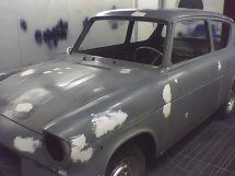Anglia in Garage