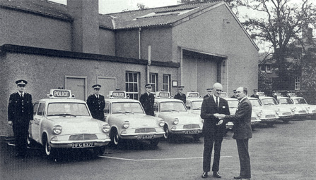 Handing over the Panda Cars