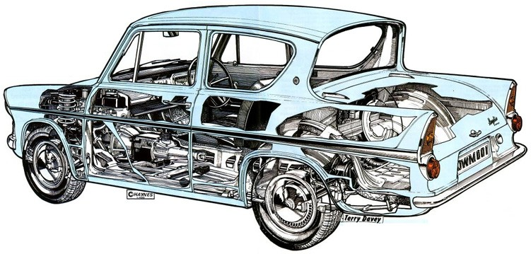 Cutaway from the Haynes Manual